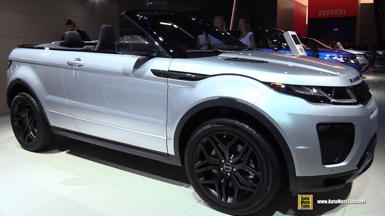 2018 range rover evoque cabriolet exterior and interior walkaround 2017 frankfurt auto show. Black Bedroom Furniture Sets. Home Design Ideas