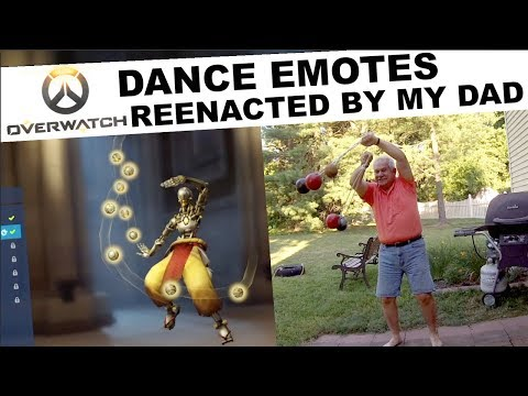 Overwatch Dance Emotes reenacted by my Dad