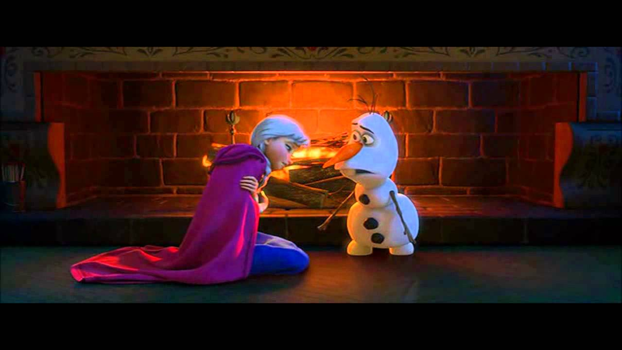 Disney S Frozen Olaf Explains Love To Anna Youtube