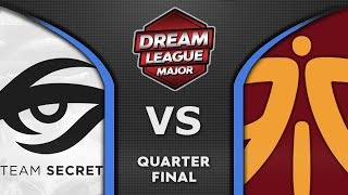 Secret vs Fnatic [GREAT] Quarter Final Leipzig Major 2020 DreamLeague 13 Highlights Dota 2