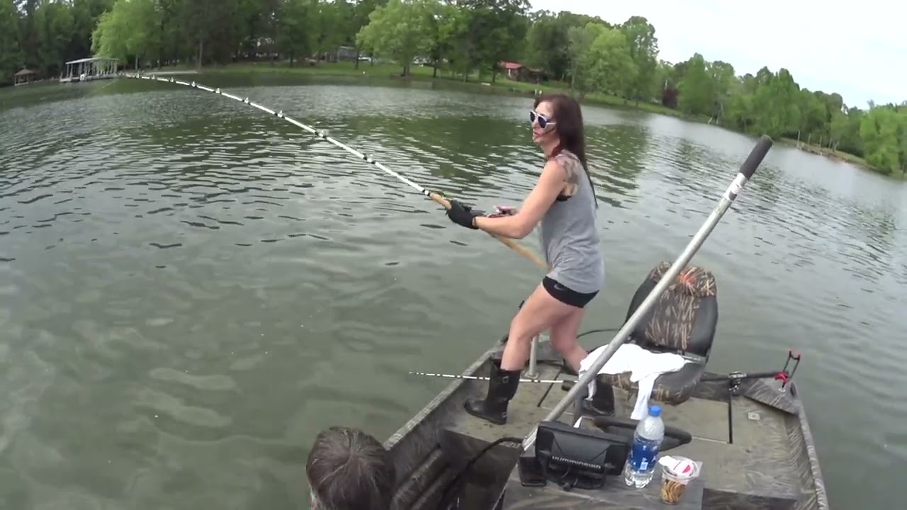 Girl Catches Big Catfish