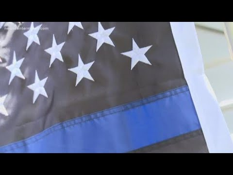 Thin Blue Line Flag In York Starts Controversy