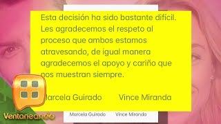 ¡ÉL FUE INFIEL! Marcela Guirado y Vince Miranda decidieron terminar su matrimonio.
