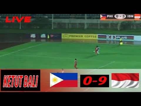 WOW  9 - 0 ALL GOAL  INDONESIA VS PHILIPINA -  PIALA AFF U18 - 7 September 2017