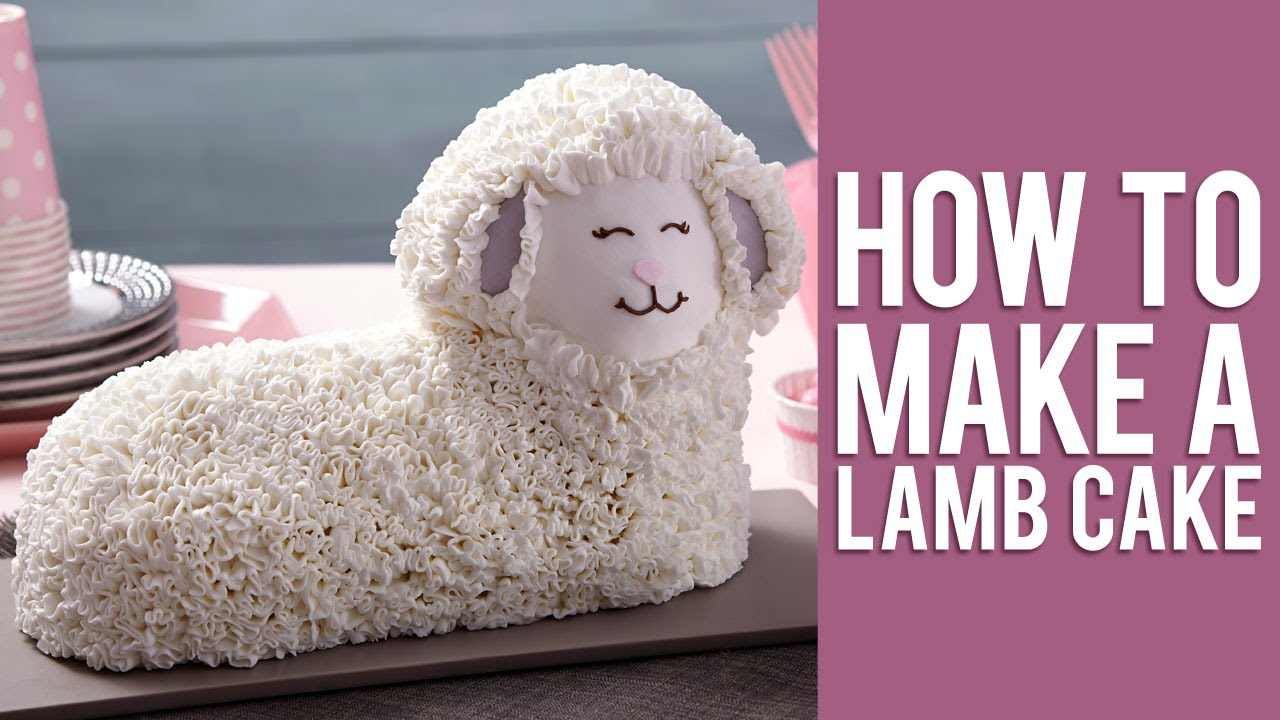 How To Decorate A Lamb Cake For Easter Youtube
