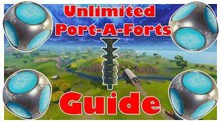 UNLIMITED Port-A-Forts | Fortnite [German] [FullHD] [Toutorial]