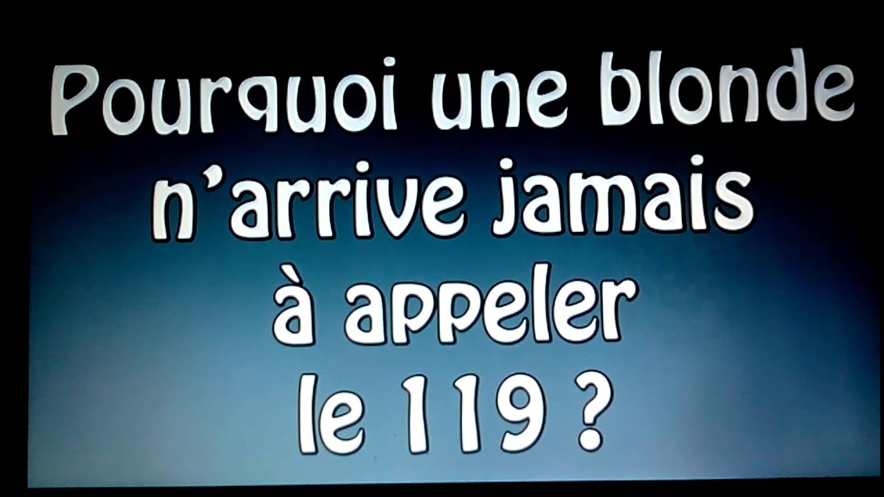 Image Blague Blonde