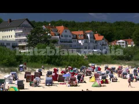 Stock Footage Europe Germany Baltic Sea Beach Bansin Usedom Island Ostsee Strand Urlaub Travel