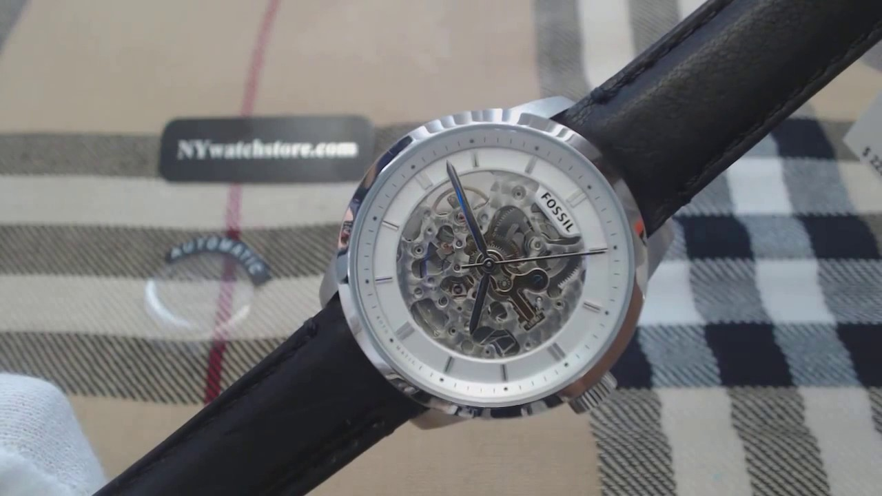 Mens Fossil Townsman Automatic Skeleton Watch Me3085 Youtube Me3130
