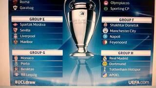 tabla de la champions League uefa agosto 2017 -Champion table August 2017