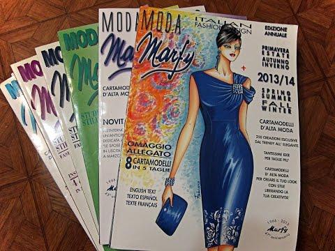 Katalog Marfy-мода из Италии. Итальянский рисованный каталог женской одежды  #moda