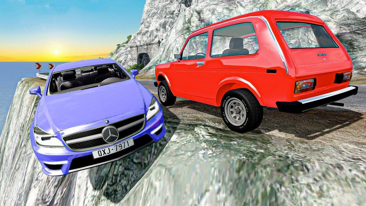 Новые аварии BeamNG Drive Игровые ситуации Авто аварии Скоростные столкновения машин Игра ДТП