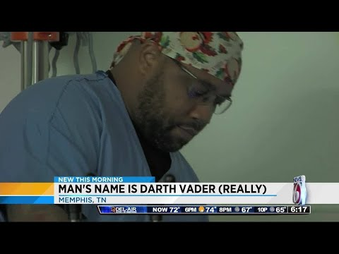 Nurse deals with his given name: Darth Vader