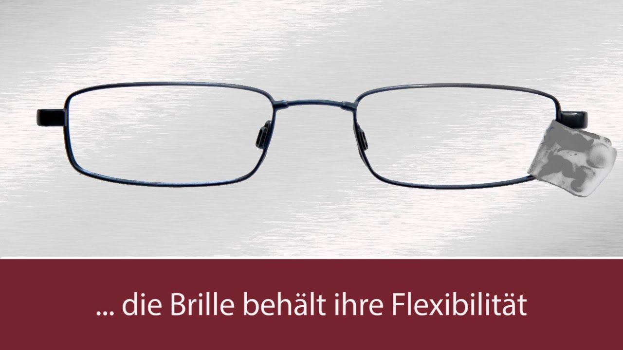 TITANflex Brücken Brillenreparatur - YouTube