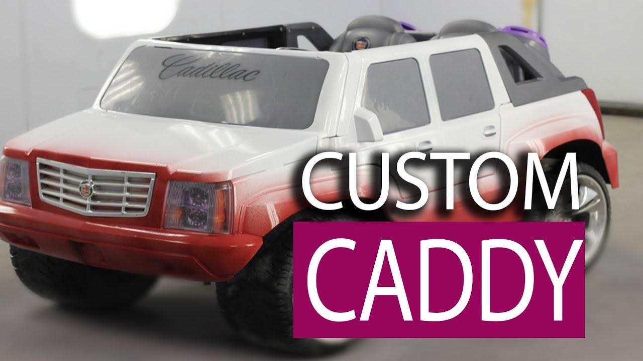 Custom Painted Job  Power Wheels Cadillac  YouTube