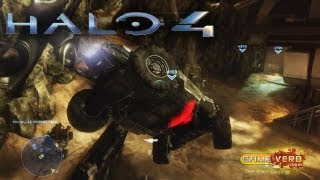 Halo 4 Crimson Map Pack 1 Wreckage Multiplayer Gameplay Walkthrough: Epic Flying Warthog!