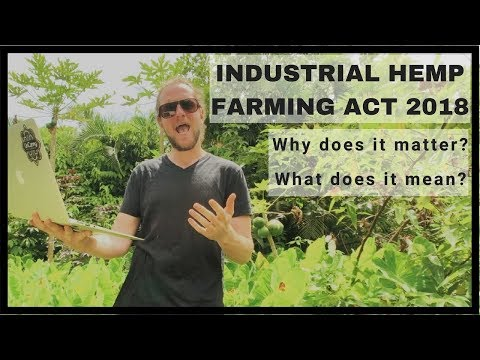 Industrial Hemp Farming Act of 2018  |  Why does it matter?
