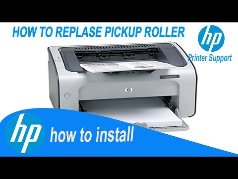 hp laserjet p1108 , how to replace pickup roller