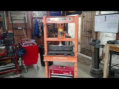 Shop Press with a Homemade Press Metal Brake.
