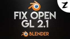 How To Fix Blender Requires a Graphic Driver With OpenGl 2.1 Support 2017! #SVSpotlight