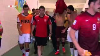 Ronaldo en Khedira wisselen shirts in de rust   WK Voetbal 2014