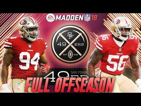 San Francisco 49ers Franchise Full Offseason, Free Agency, and Draft + Preseason Thriller w. Rooks!