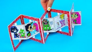 Teen Titans Go! Christmas Accordion Gift Card Tutorial | DIY Accordion Card