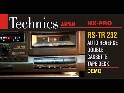 TECHNICS, JAPAN RS - TR 232 AUTO REVERSE STEREO CASSETTE DECK