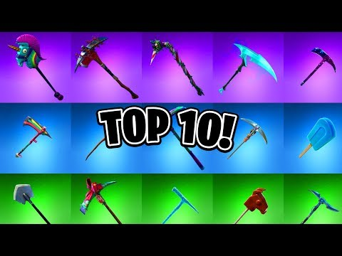 TOP 10 BEST FORTNITE PICKAXES! (According To The Community)