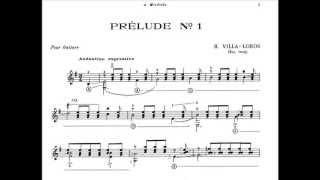 Heitor Villa-Lobos: Five preludes for guitar - I: Andantino Expressivo | Anders Miolin