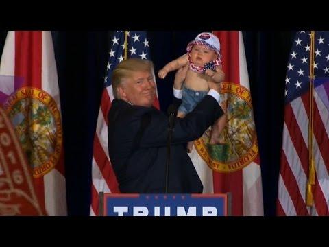 Trump brings baby