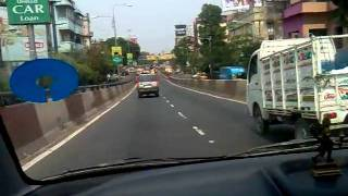 road rage on on ajc bose road flyover