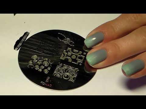 Видеоурок дизайна ногтей - стемпинг и градиент