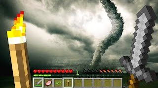 One of JeromeASF's most viewed videos: REALISTIC TORNADO IN MINECRAFT  | Minecraft - Mod Battle Challenge