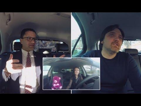 """""""Mos i fol Shoferit"""" - Eglent Beci dhe Julian Deda në taksinë e Rudina Dembacaj - Ora News"""