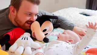 BABY MEETS MICKEY! & Aldi Food Shop