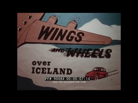 """1950s ICELAND TRAVELOGUE FILM  """"WINGS AND WHEELS OVER ICELAND""""  REYKJAVIK (SILENT FILM)  90484"""