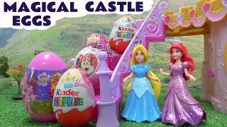 play doh frozen princess ariel magiclip barbie surprise eggs rapunzel elsa disney magical castle