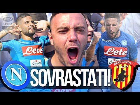 NAPOLI 6-0 BENEVENTO | SOVRASTATI!!! REAZIONE NAPOLETANI GOL CURVA B LIVE HD
