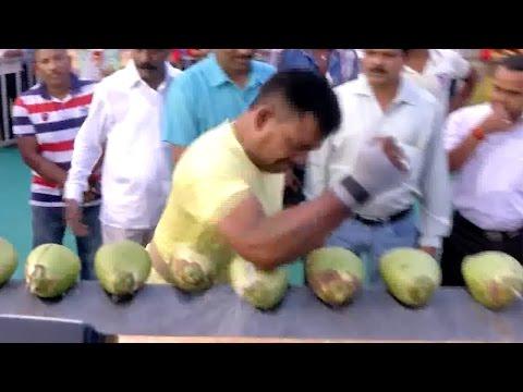 World Record Coconut Smasher