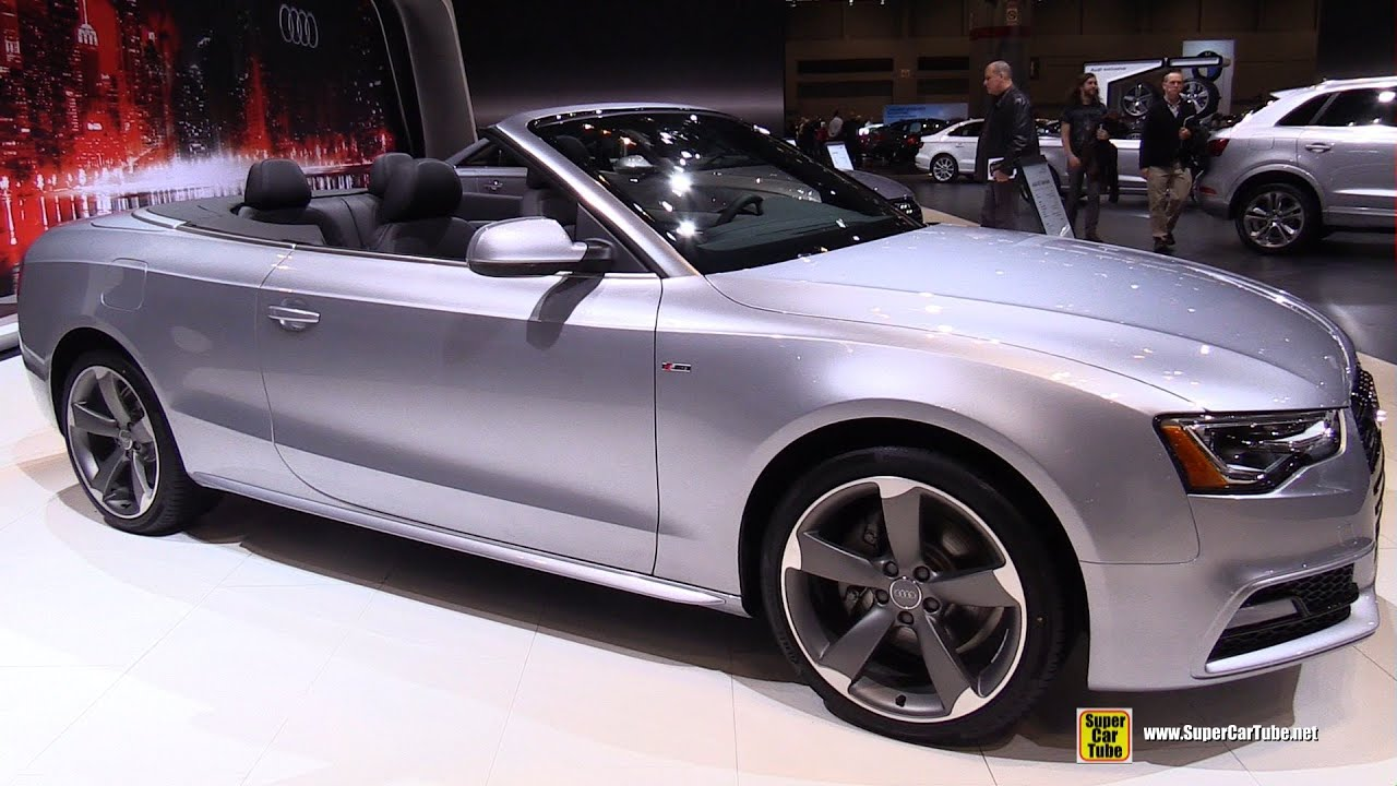 2015 audi a5 cabriolet exterior and interior walkaround. Black Bedroom Furniture Sets. Home Design Ideas