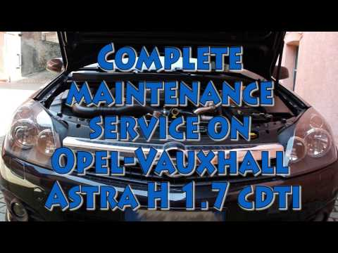 Complete maintenance service on Opel-Vauxhall-Saturn Astra H 1.7 CDTI – eBay oil and filters kit