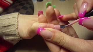 Моделирование ногтей (база, акриловая пудра, био-гель) + прорисовка френча