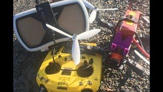 "ZMR 250 FPV FLIGHT 6"" Race Drone Jumper T8SG Plus RANGE RUN REVIEW"