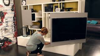 Smart Living By Ozzio Design - Parete Attrezzata, Mobile Porta Tv, Wall Unit With Tv Stand