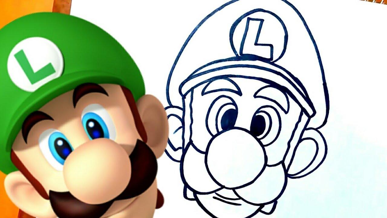 Como Dibujar A Luigi De Mario Bros Youtube