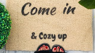 DIY Custom Door Mat | Make your own INEXPENSIVE Door Mat at home | Oh So Homemade