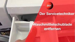 Waschmittelschublade entfernen und reinigen