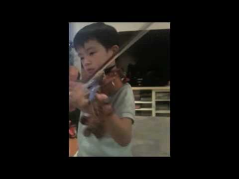 Eddie Little Man with his Violin