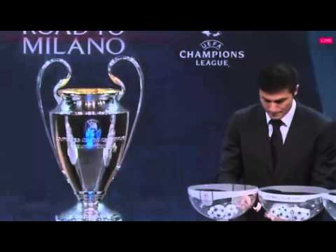 Javier Zanetti - Draw Manipulating ? Champions League Draw Balls (Juventus-Bayern Munich)